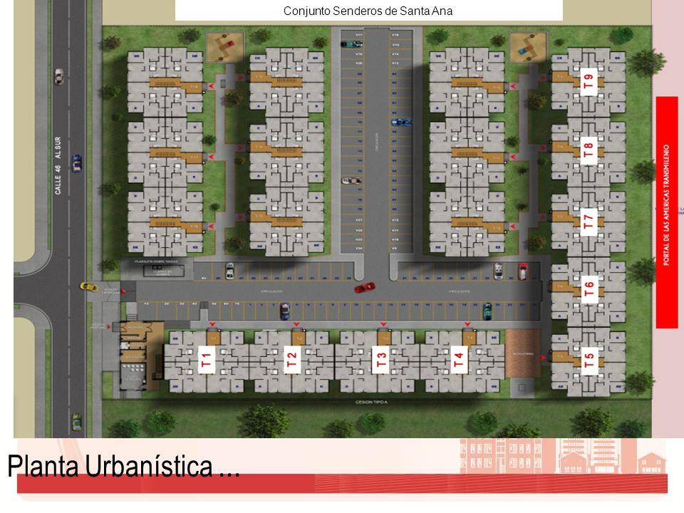 Conjunto Senderos de Santa Ana Planta Urbanística...