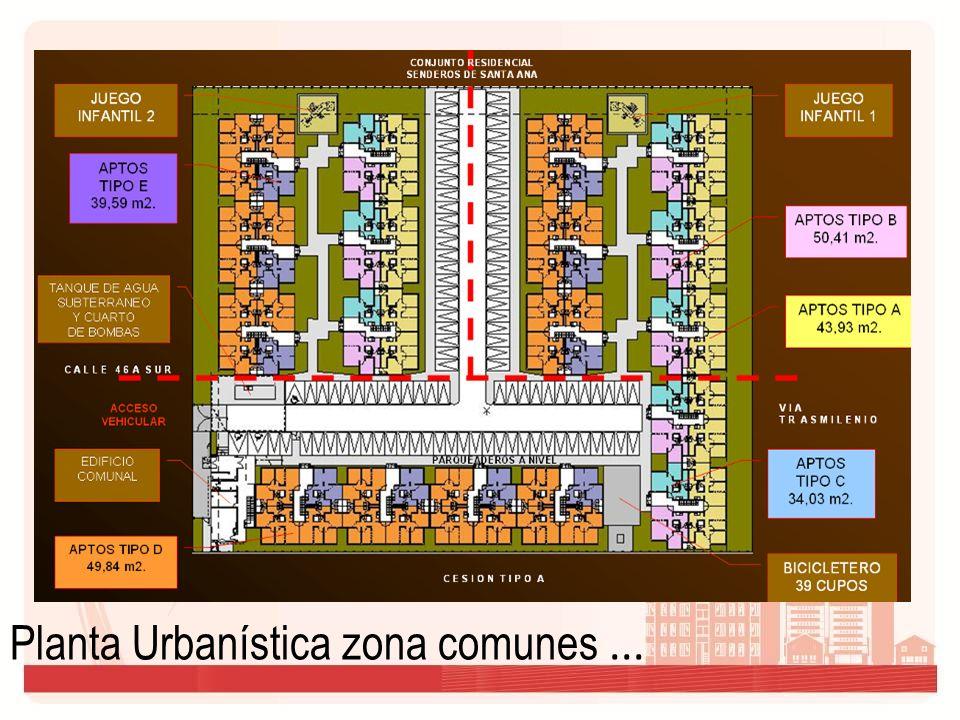 Planta Urbanística zona comunes...