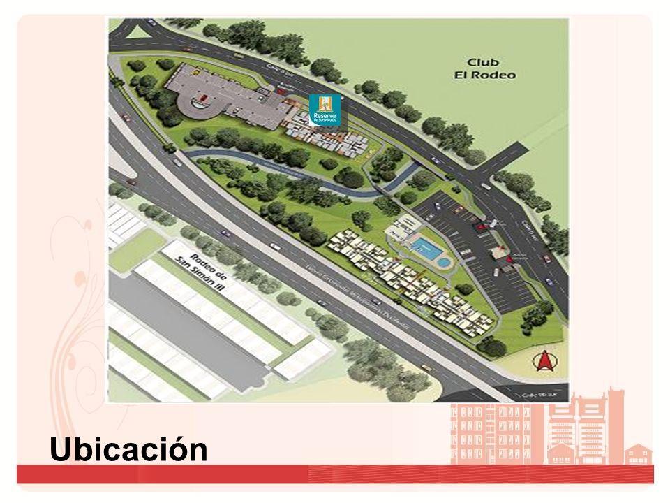 Club El Rodeo Rodeo de San Simón III Planta parqueaderos 106 a 1406 101 a 1401 105 a 1405 102 a 1402 104 a 1404 103 a 1403 Acceso peatonal Acceso vehicular Planta urbanística