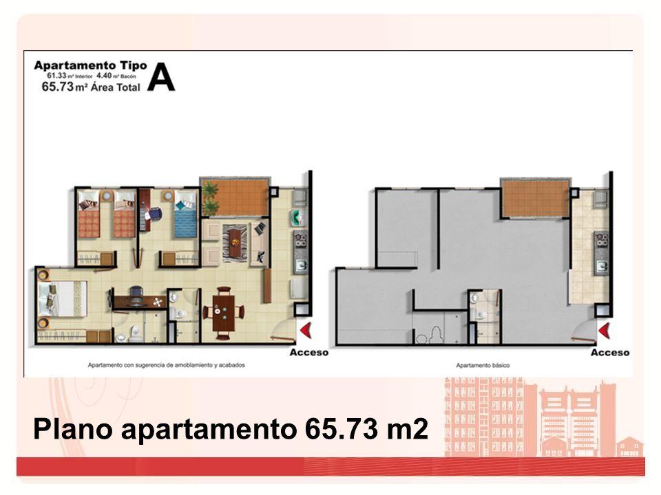Plano apartamento de 69.91m2