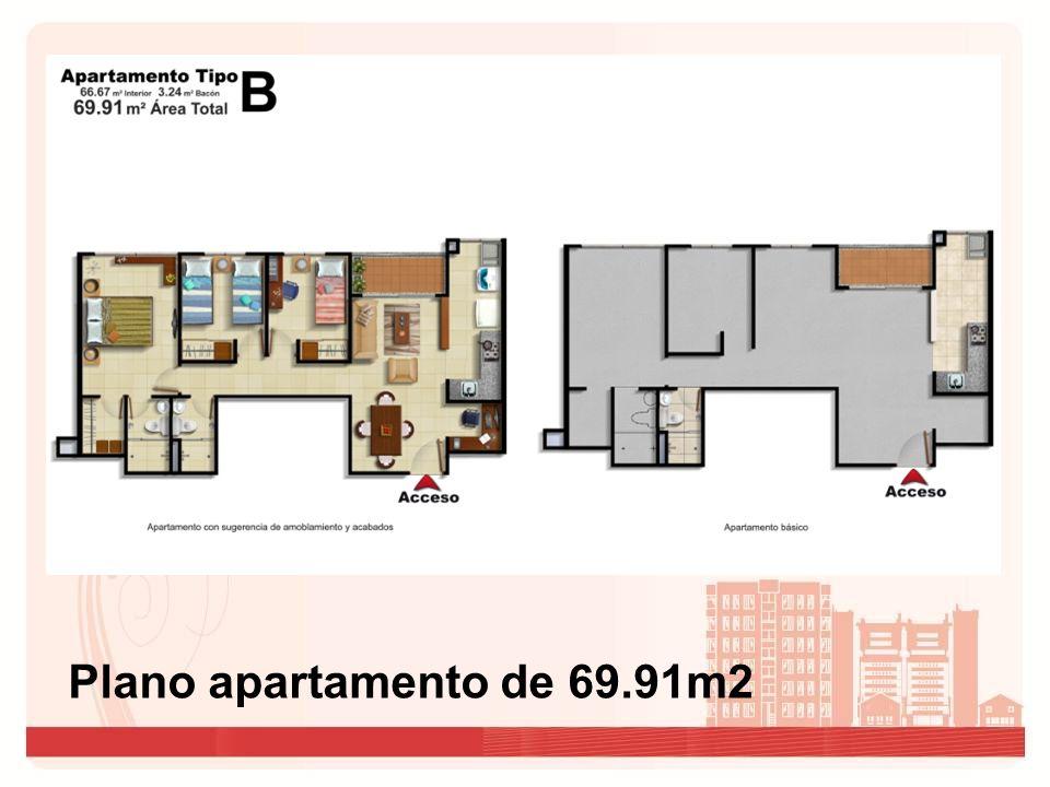 Plano Apartamento de 55.16 m2