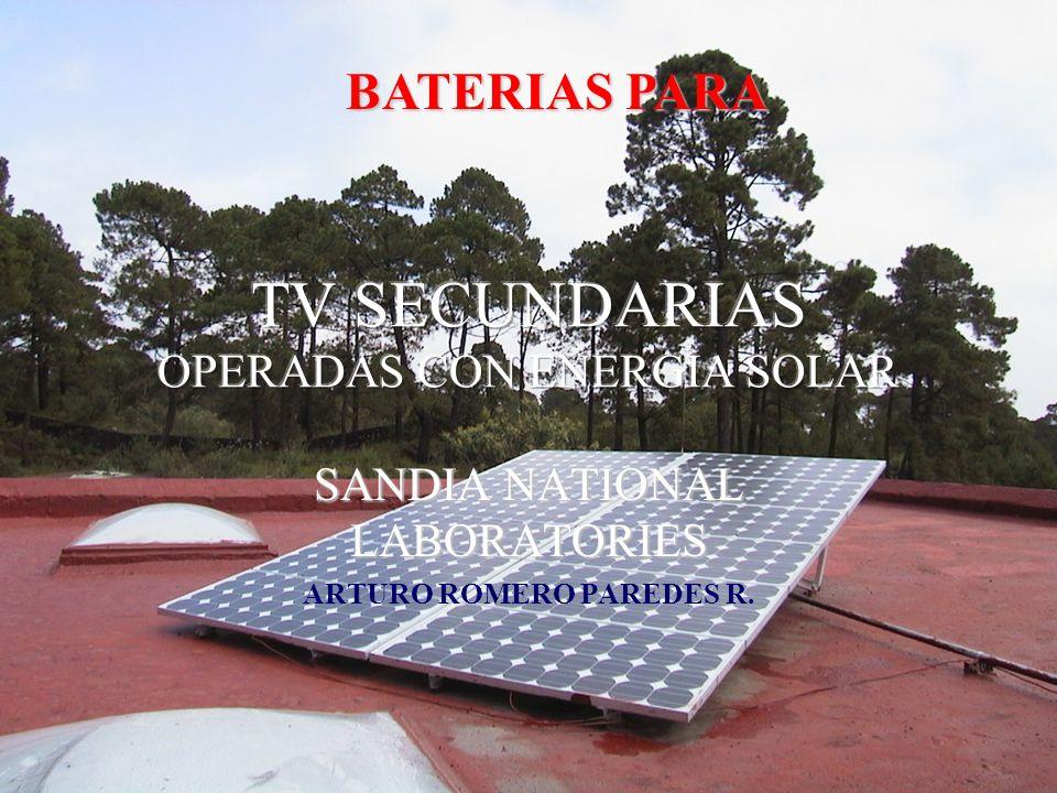 SANDIA NATIONAL LABORATORIES ARTURO ROMERO PAREDES R. BATERIAS PARA