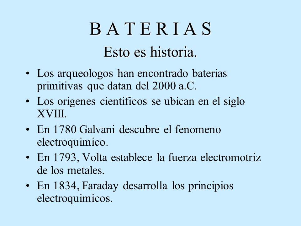 BATERIAS DE PLOMO ACIDO BATERIAS DE CICLO PROFUNDO ABIERTA 12 VCD NOMINALES REQUIERE DE MANTENIMIENTO ALTA CAPACIDAD > 600 Ah.