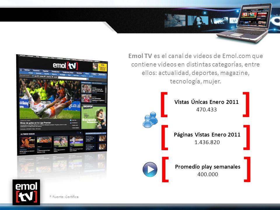 Emol TV es el canal de videos de Emol.com que contiene videos en distintas categorías, entre ellos: actualidad, deportes, magazine, tecnología, mujer.