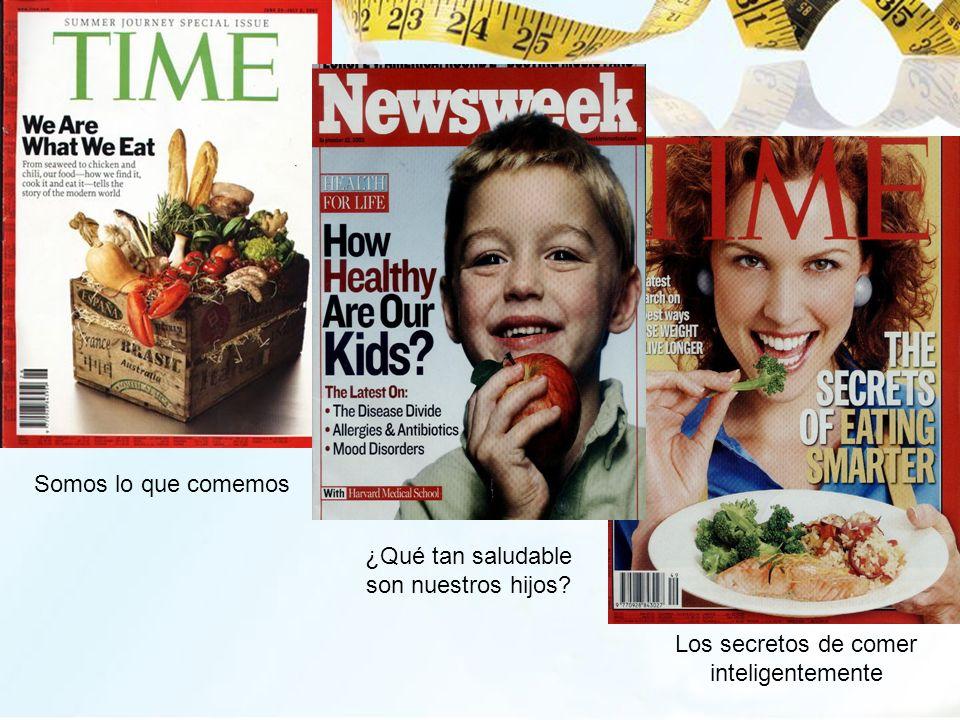 Somos lo que comemos ¿Qué tan saludable son nuestros hijos? Los secretos de comer inteligentemente