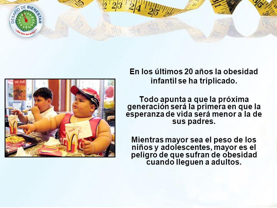 En los últimos 20 años la obesidad infantil se ha triplicado. Todo apunta a que la próxima generación será la primera en que la esperanza de vida será