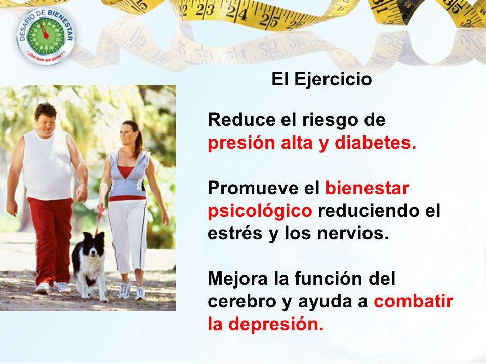 Reduce el riesgo de presión alta y diabetes. Promueve el bienestar psicológico reduciendo el estrés y los nervios. Mejora la función del cerebro y ayu