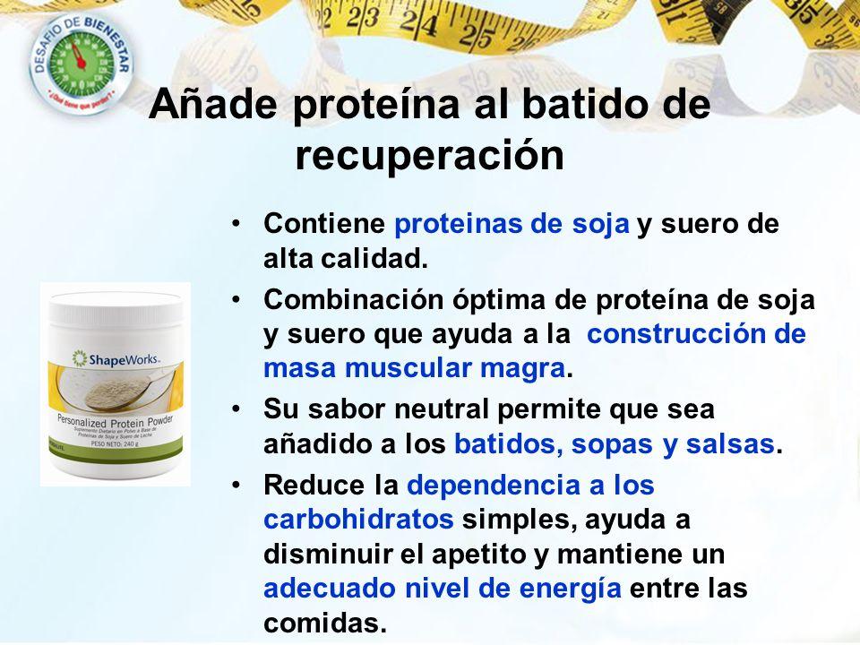 Contiene proteinas de soja y suero de alta calidad. Combinación óptima de proteína de soja y suero que ayuda a la construcción de masa muscular magra.