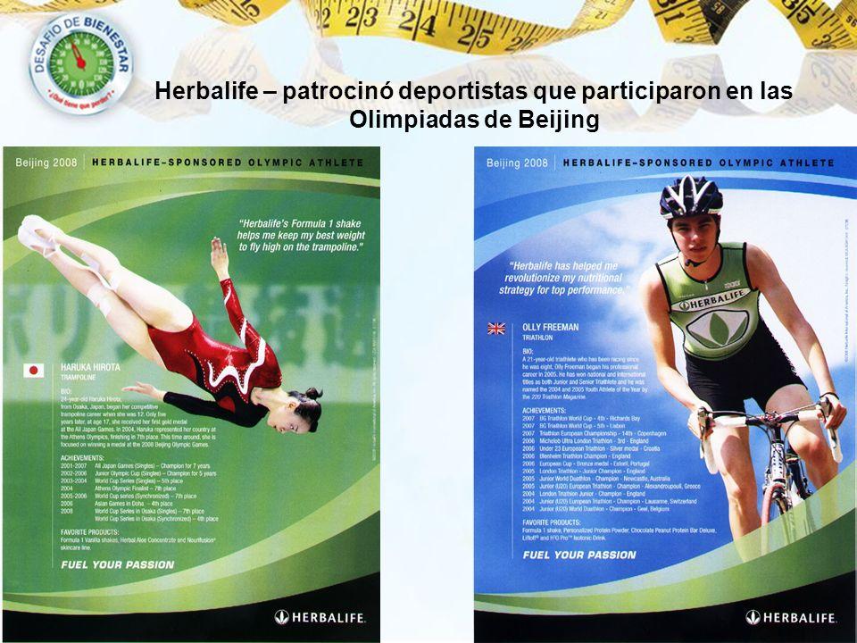 Золотая медаль в Пекине Herbalife – patrocinó deportistas que participaron en las Olimpiadas de Beijing