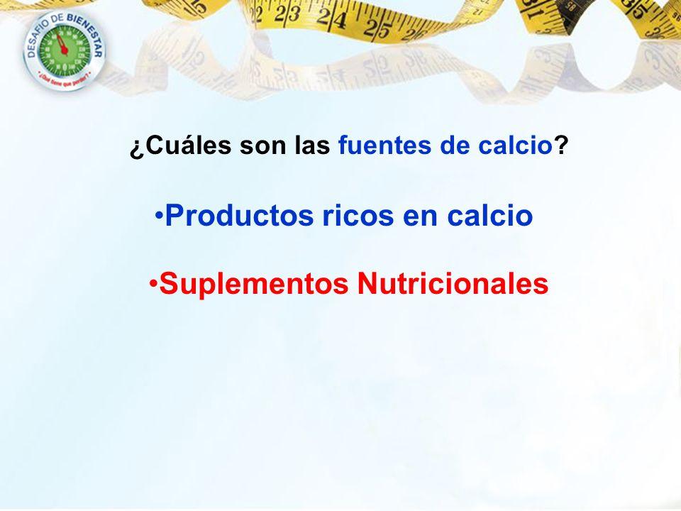 ¿Cuáles son las fuentes de calcio? Productos ricos en calcio Suplementos Nutricionales