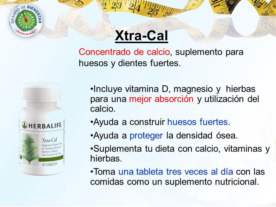 Xtra-Cal Incluye vitamina D, magnesio y hierbas para una mejor absorción y utilización del calcio. Ayuda a construir huesos fuertes. Ayuda a proteger