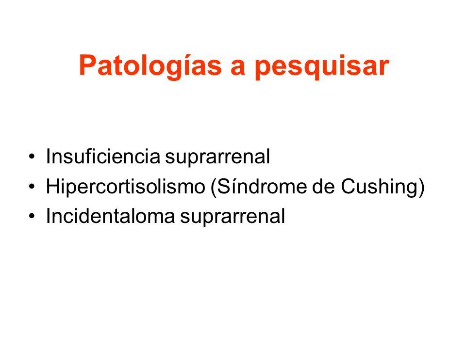INSUFICIENCIA SUPRARRENAL Estado en el cual la síntesis de cortisol es incapaz de proveer las necesidades del organismo.