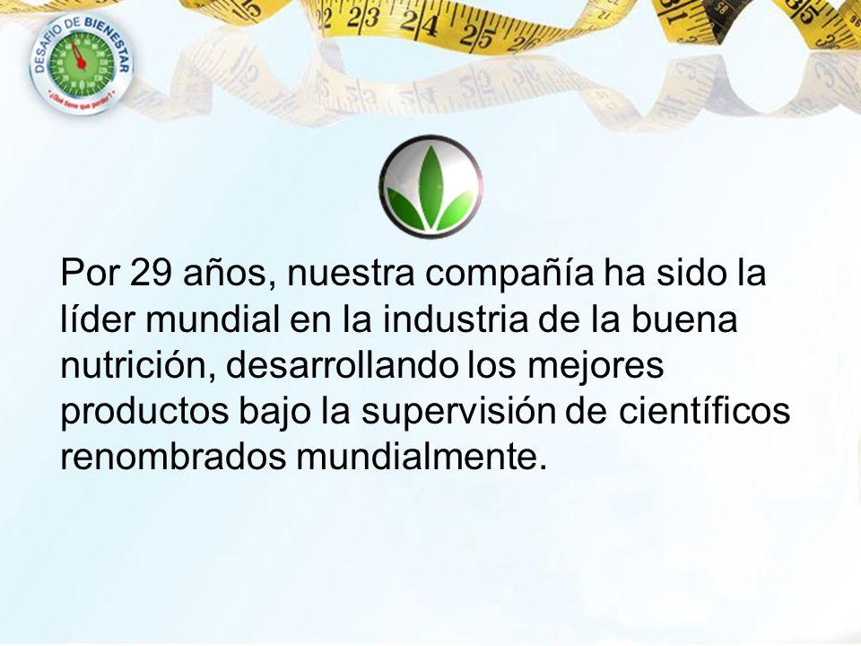 Por 29 años, nuestra compañía ha sido la líder mundial en la industria de la buena nutrición, desarrollando los mejores productos bajo la supervisión