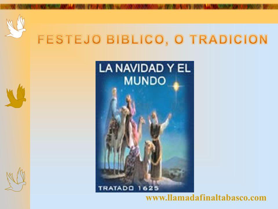 1) La Navidad es motivada por el comercio.2) La Navidad no se menciona en la Biblia.