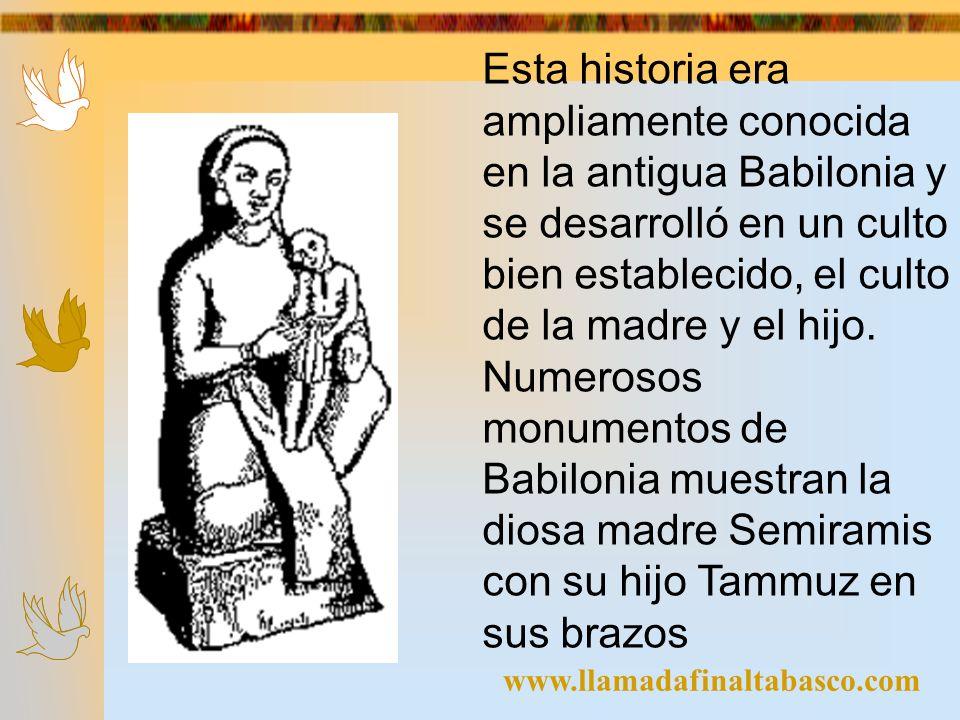 www.llamadafinaltabasco.com Esta historia era ampliamente conocida en la antigua Babilonia y se desarrolló en un culto bien establecido, el culto de l