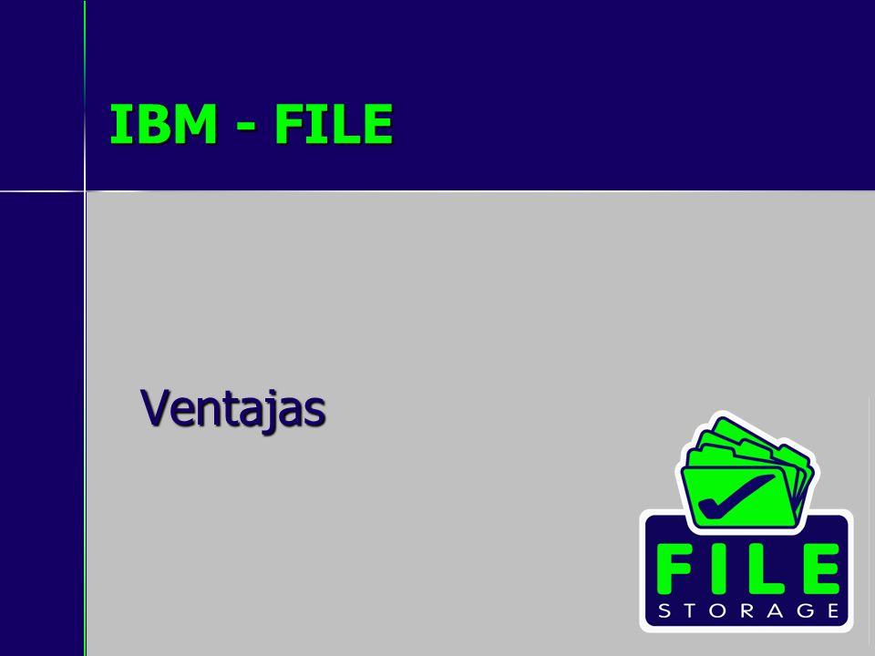 IBM - FILE Ventajas