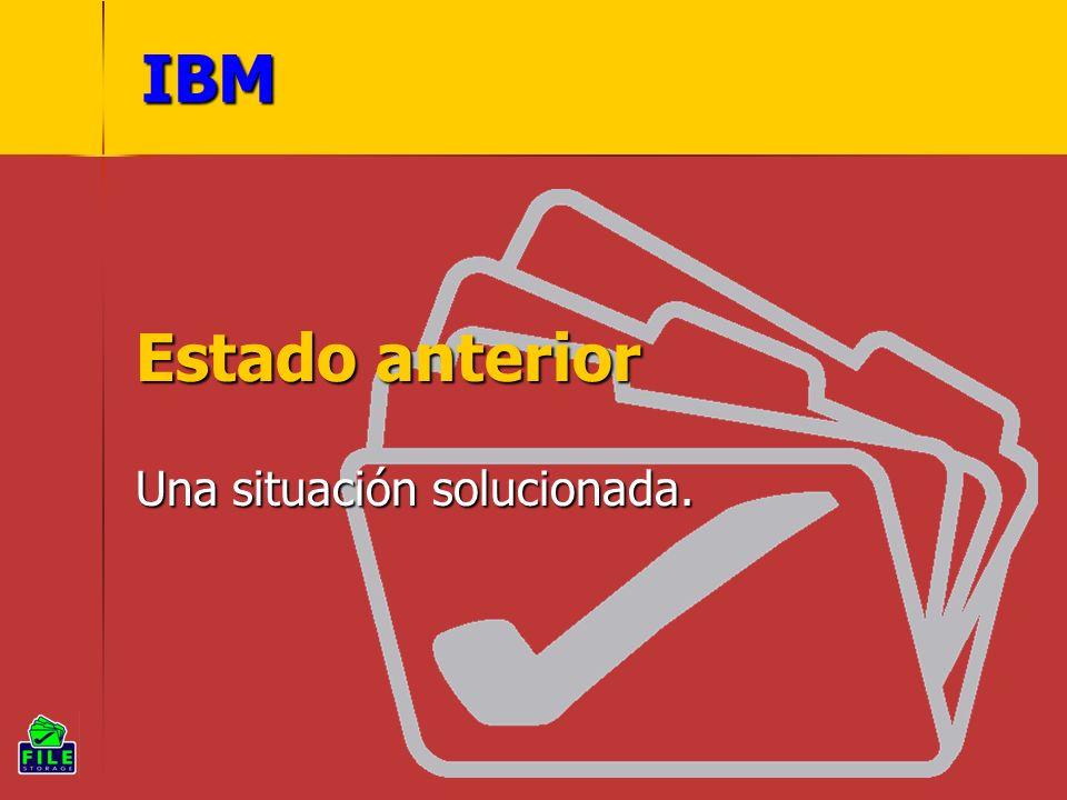 IBM Estado anterior Una situación solucionada.