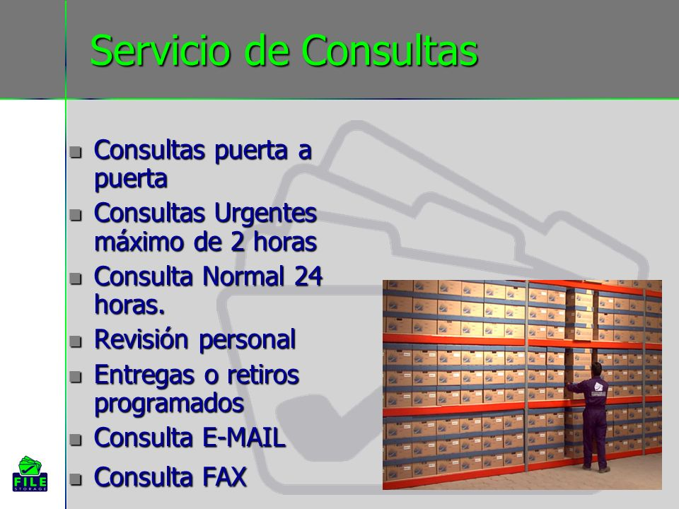 Servicio de Consultas Consultas puerta a puerta Consultas puerta a puerta Consultas Urgentes máximo de 2 horas Consultas Urgentes máximo de 2 horas Co