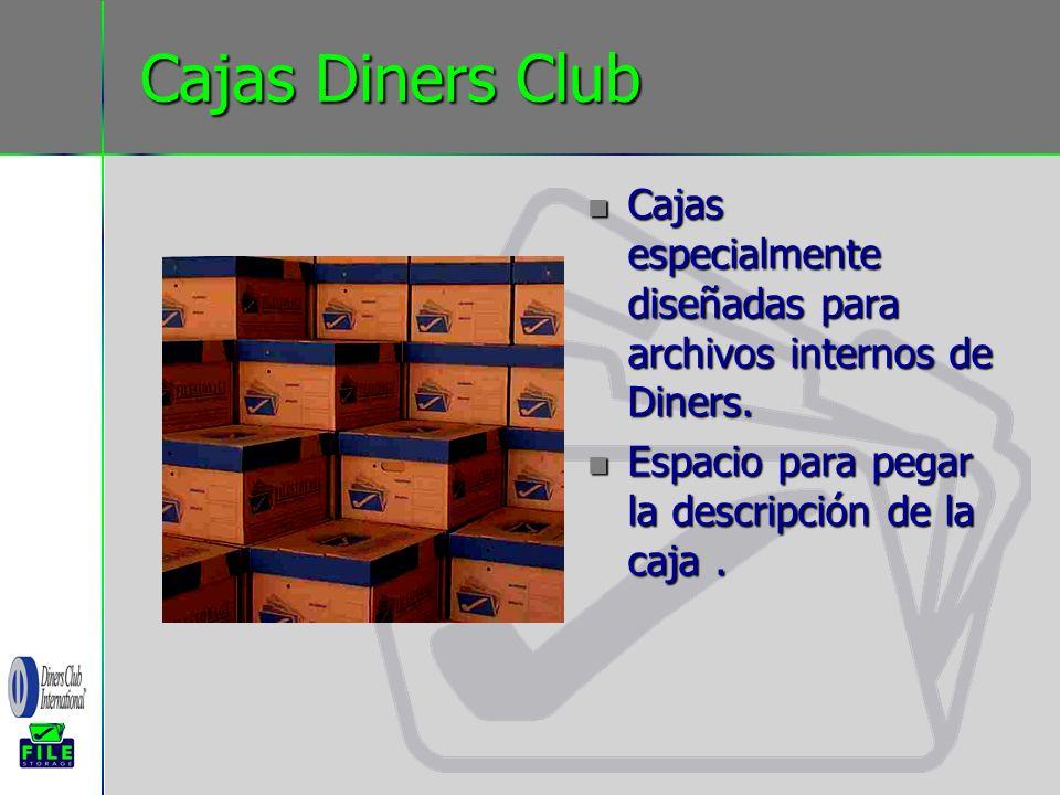 Cajas Diners Club Cajas especialmente diseñadas para archivos internos de Diners. Cajas especialmente diseñadas para archivos internos de Diners. Espa