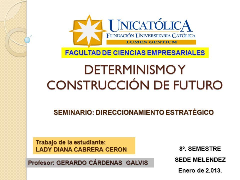 Predicción Pronóstico Prospectiva Pensamiento Complejo Medina, 2006 ComplejidadComplejidad Indeterminación - Enfoque Espacio de trabajo del planificador