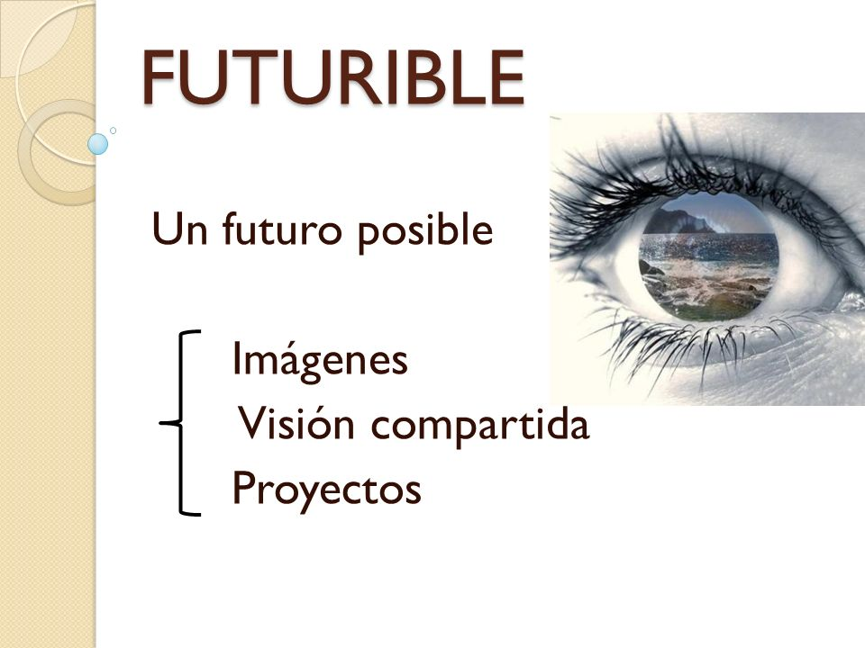 FUTURIBLE Obstáculos para observar con claridad Antepasados: desarrollo riesgos y posibilidades Nuevas ideas = futuros posibles