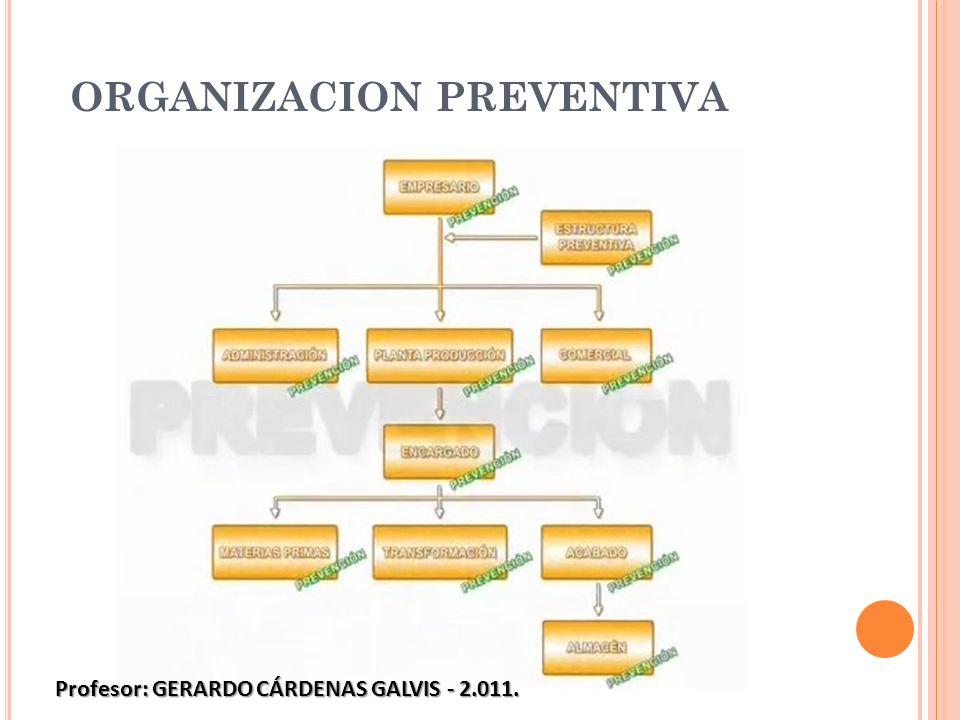 ORGANIZACION PREVENTIVA Profesor: GERARDO CÁRDENAS GALVIS - 2.011.
