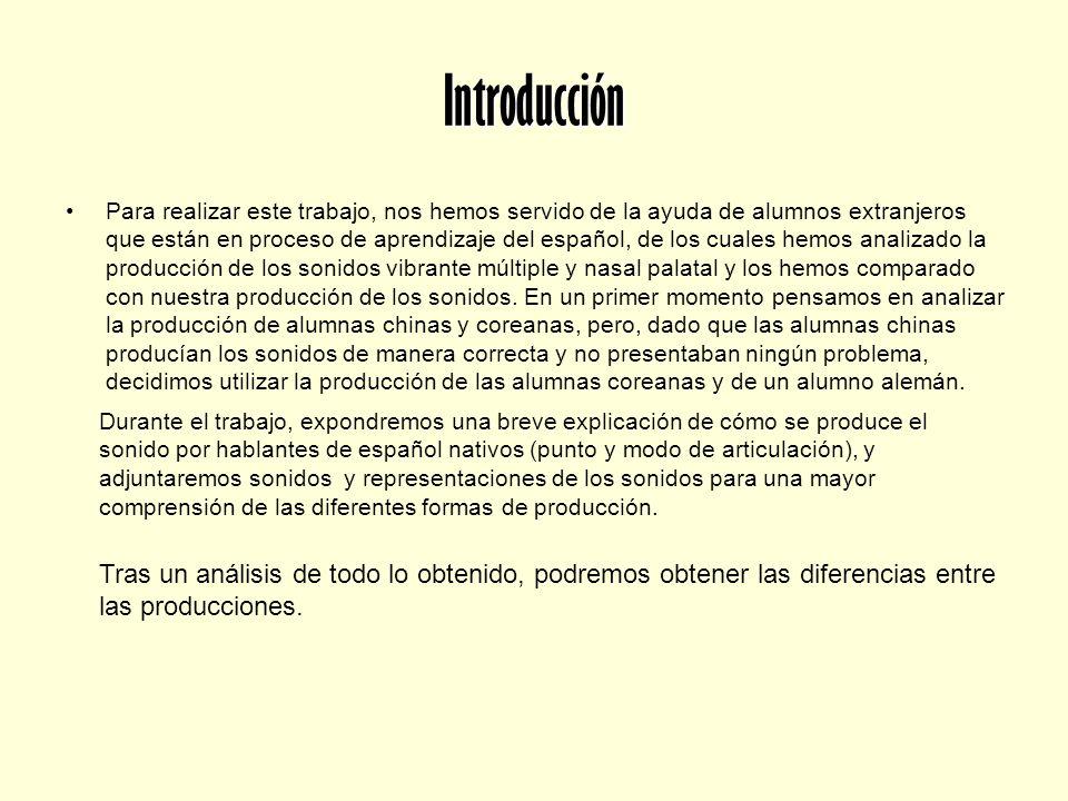 Introducción Para realizar este trabajo, nos hemos servido de la ayuda de alumnos extranjeros que están en proceso de aprendizaje del español, de los
