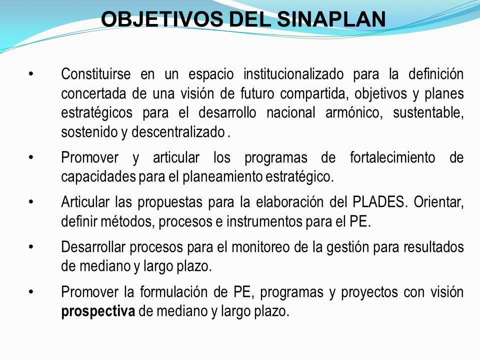 CEPLAN : funciones generales Conducir el proceso de formulación y difusión de una visión compartida y concertada de futuro del país en sus diversos sectores y niveles de gobierno.