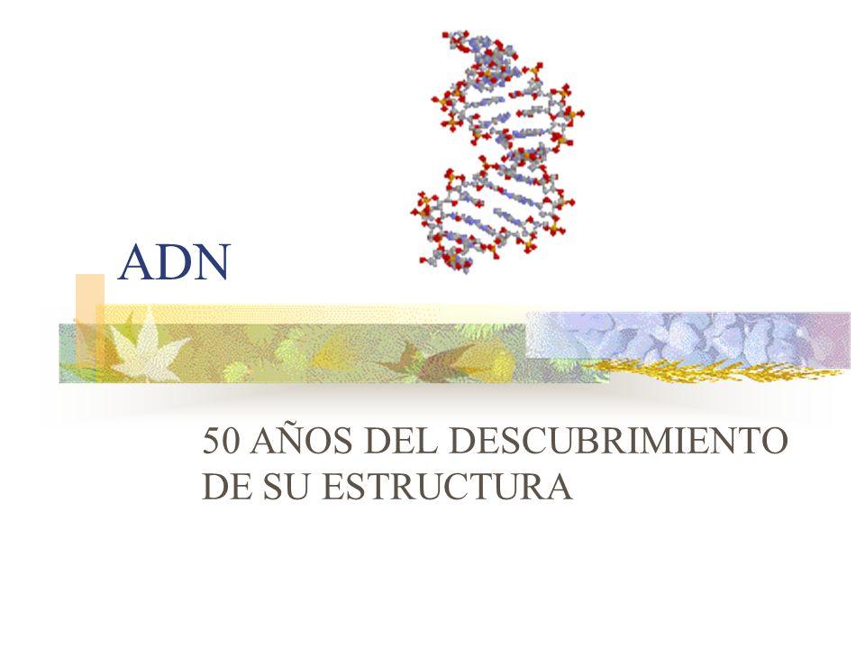 ADN 50 AÑOS DEL DESCUBRIMIENTO DE SU ESTRUCTURA