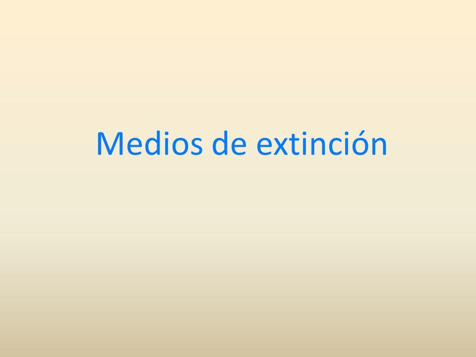 Medios de extinción