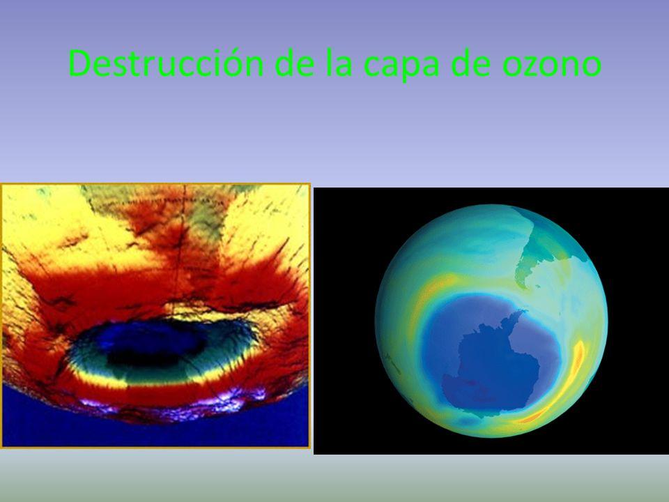 Efecto invernadero Energía calorífica luminosa Dióxido de carbono CO 2 La energía calorífica queda Atrapada la energía luminosa es devuelta superficie del suelo se calienta