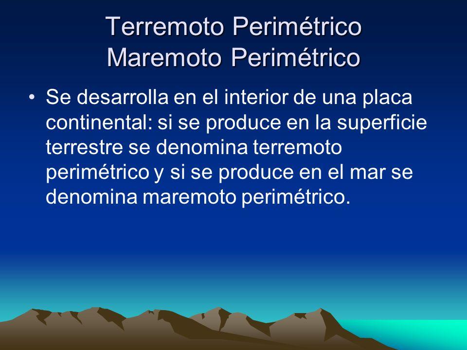 Terremoto Volcánico Maremoto Volcánico Se desarrolla en el interior de una estructura volcánica: si se produce en la superficie terrestre se denomina terremoto volcánico y si se produce en el mar se denomina maremoto volcánico.