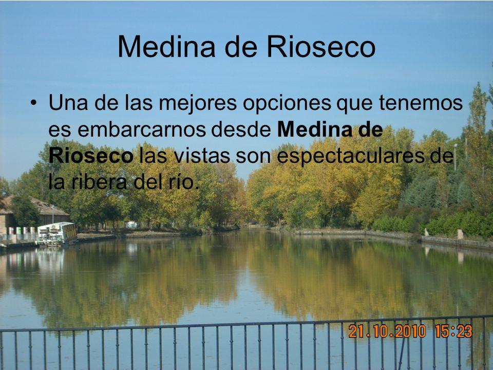 Medina de Rioseco Una de las mejores opciones que tenemos es embarcarnos desde Medina de Rioseco las vistas son espectaculares de la ribera del río.