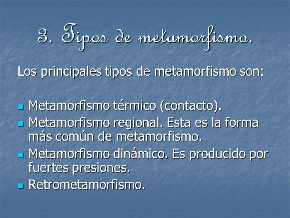 3.Tipos de metamorfismo.