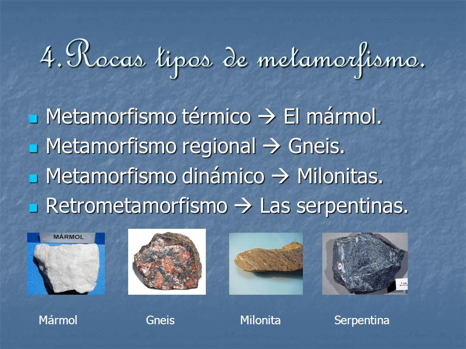 4.Rocas tipos de metamorfismo.Metamorfismo térmico El mármol.