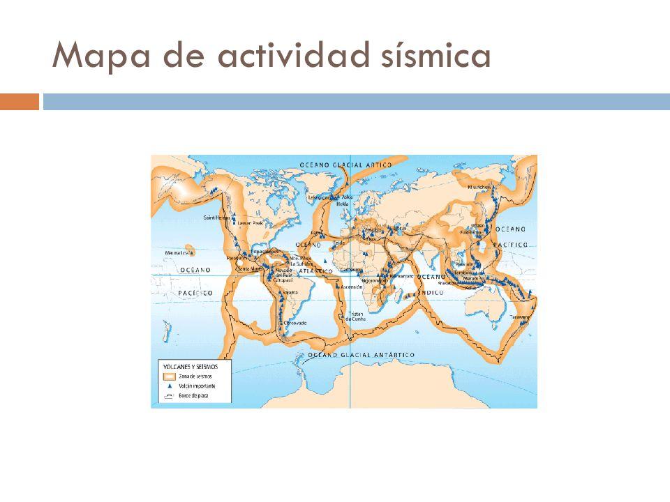 Mapa de actividad sísmica
