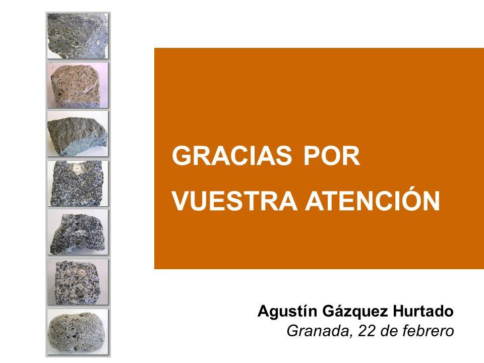 GRACIAS POR VUESTRA ATENCIÓN Agustín Gázquez Hurtado Granada, 22 de febrero