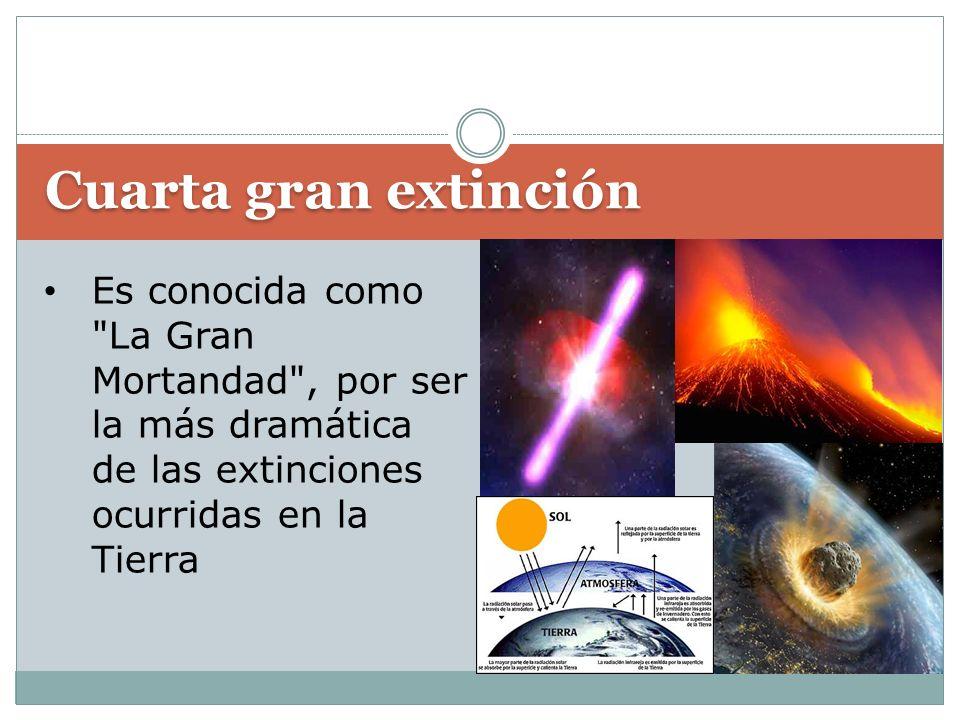 Cuarta gran extinción Es conocida como