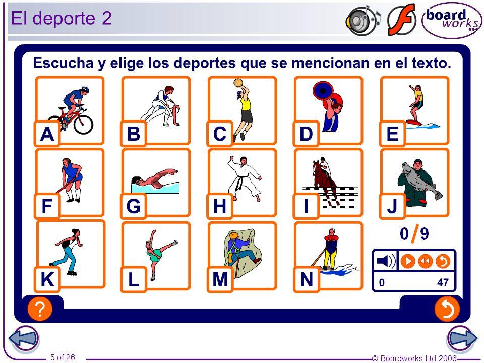 © Boardworks Ltd 2006 16 of 26 Escríbele una carta a un/a joven español/a para explicarle cómo pasas tu tiempo libre.