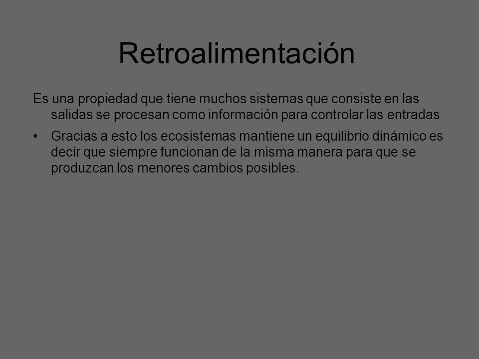 Retroalimentación Es una propiedad que tiene muchos sistemas que consiste en las salidas se procesan como información para controlar las entradas Grac