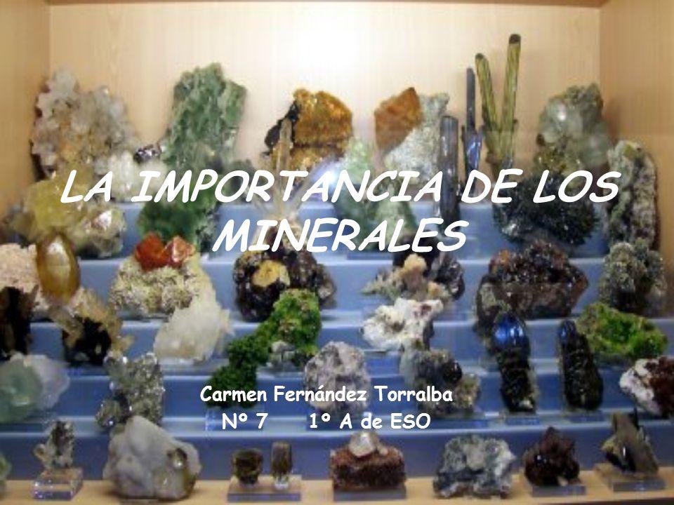 LA IMPORTANCIA DE LOS MINERALES Carmen Fernández Torralba Nº 7 1º A de ESO