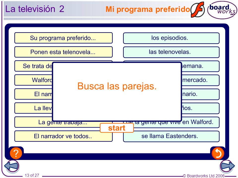 © Boardworks Ltd of 27 Mi programa preferido La televisión 2