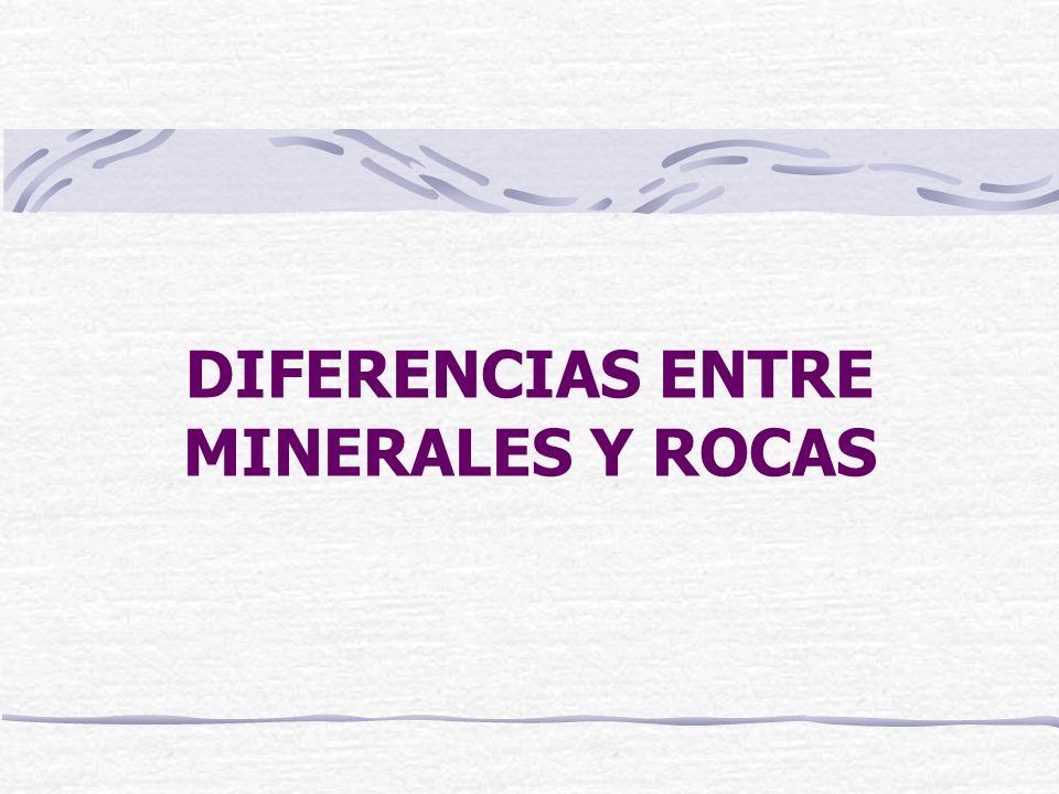 Los minerales Mineral: Sustancia natural, homogénea, de origen inorgánico y composición química definida.