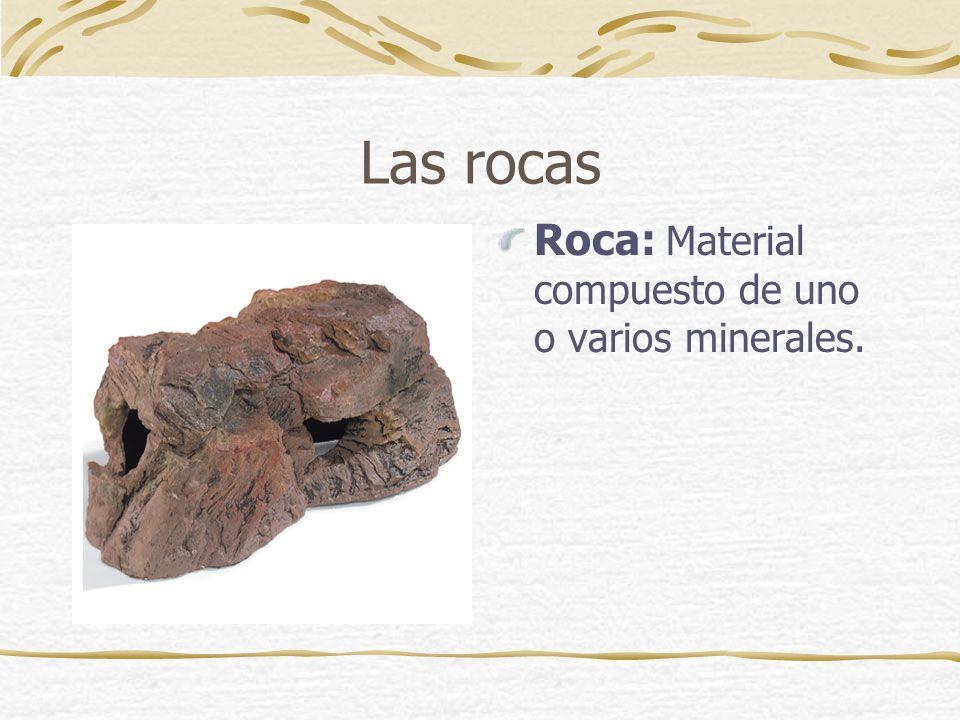 Diferencias Rocas: 1-Varios minerales.2-Forma indefinida.