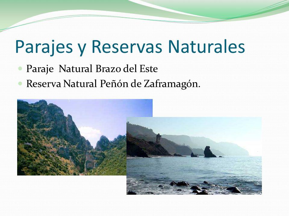 Parajes y Reservas Naturales Paraje Natural Brazo del Este Reserva Natural Peñón de Zaframagón.