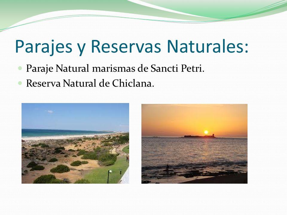 Parajes y Reservas Naturales: Paraje Natural marismas de Sancti Petri. Reserva Natural de Chiclana.