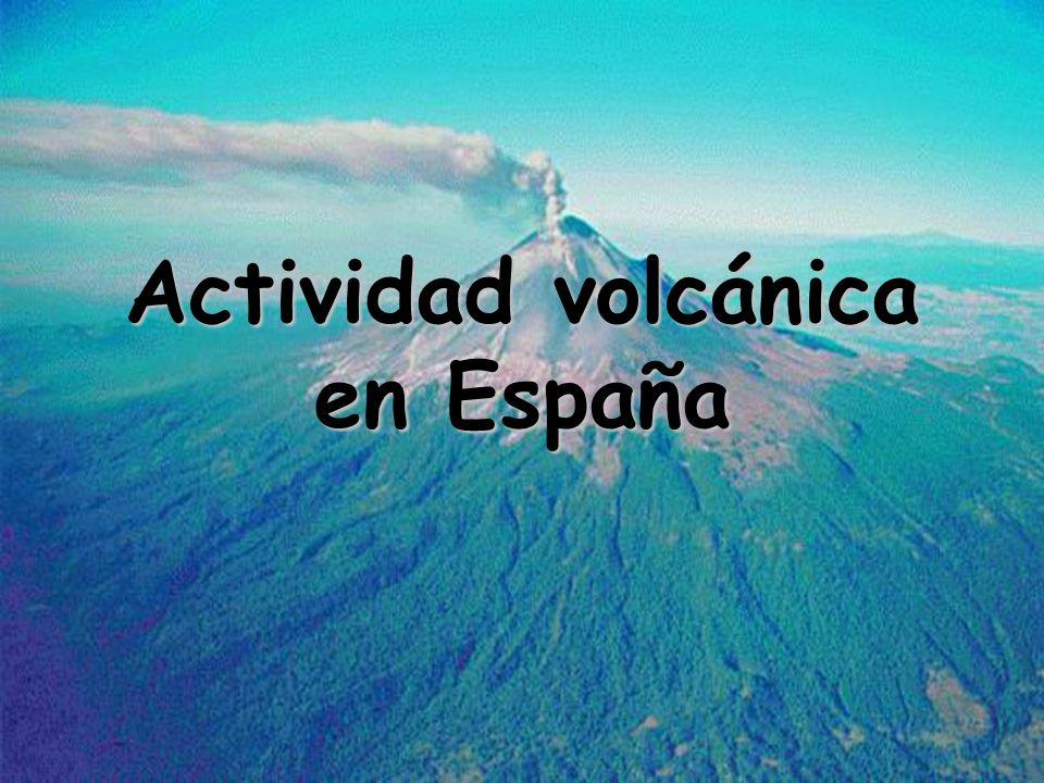 Actividad volcánica en España