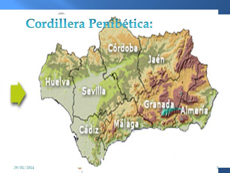 Sierras o cordilleras béticas Cordillera Subbética. Cordillera Penibética. 29/01/20144