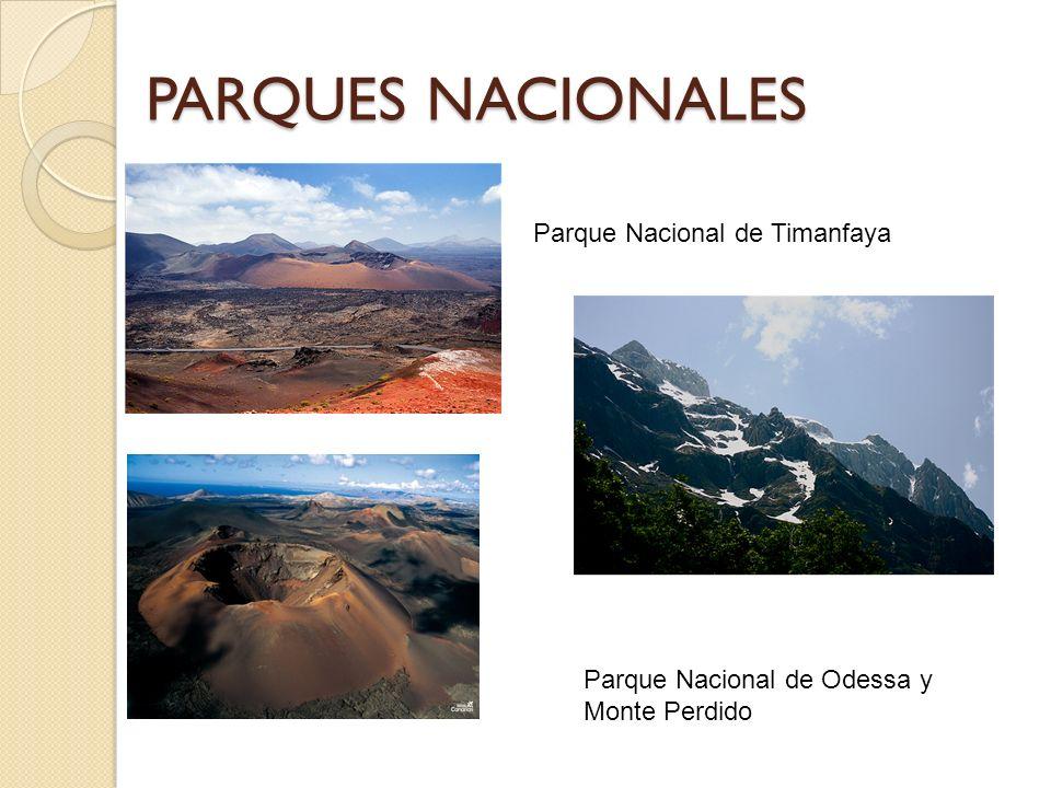 PARQUES NACIONALES Parque Nacional de Odessa y Monte Perdido Parque Nacional de Timanfaya