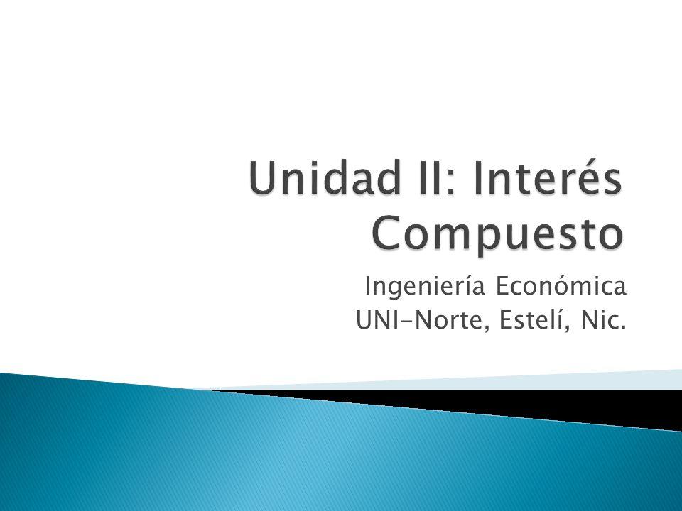 Ingeniería Económica UNI-Norte, Estelí, Nic.